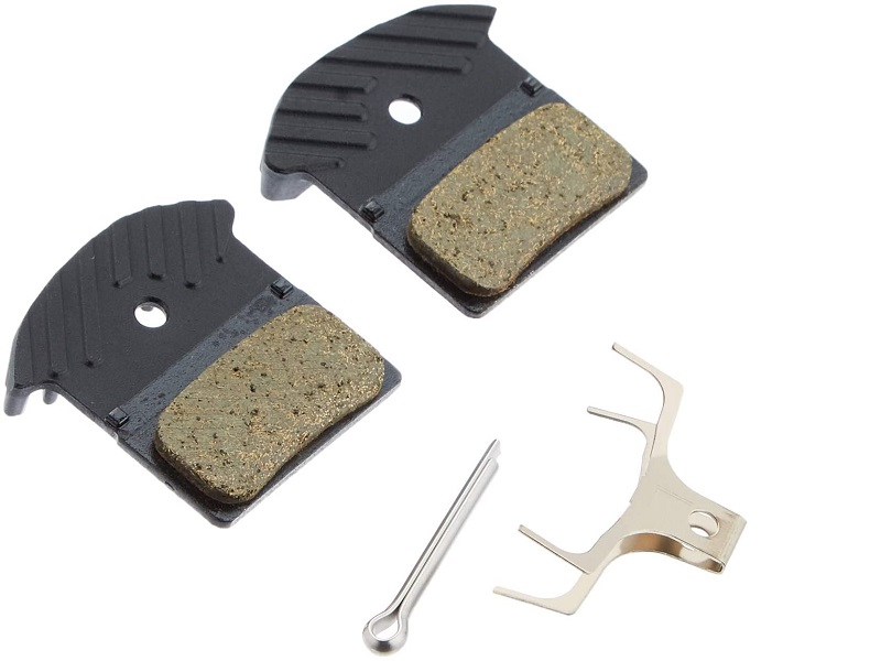 Shimano Disc Brake Pad Set Resin J02A W/Fin Spring W/Split Pin Y8LW98040